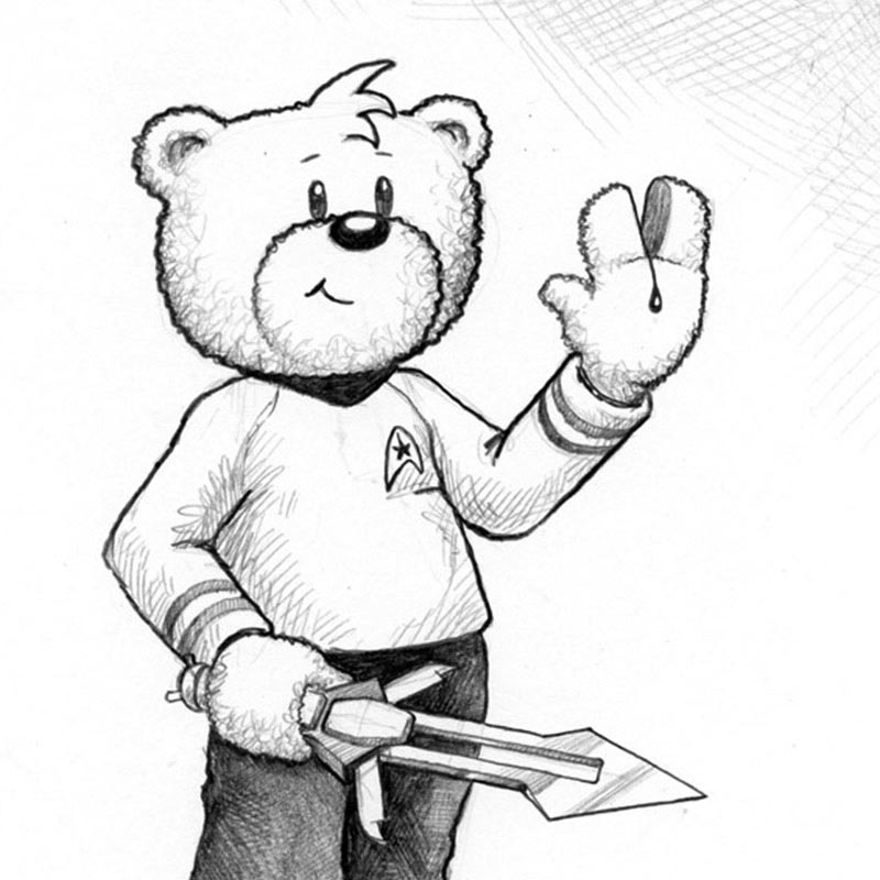 A Bad Taste Bears commission example artwork.